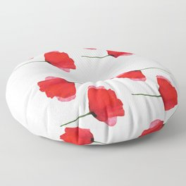 Two red poppies Floor Pillow