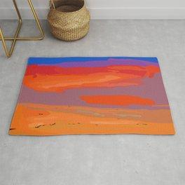 Abstract Coastal Sunset Rug