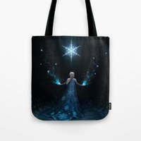 frozen Tote Bags featuring Frozen by Westling