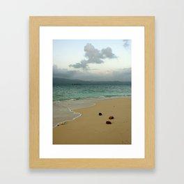 Secluded Beach in San Blas Framed Art Print