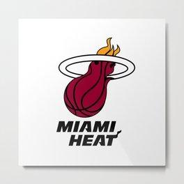 Heat Logo Metal Print