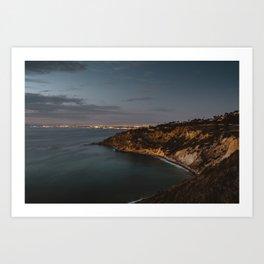 California Coast Twilight Art Print
