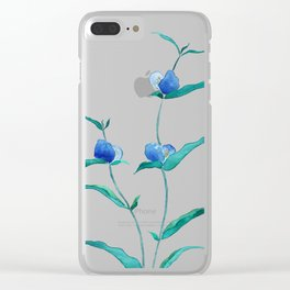 spreading dayflower Clear iPhone Case