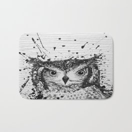"""SWOOP"" Black & White Bath Mat"