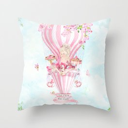 Marie Antoinette High Tea Throw Pillow