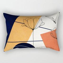 Vibrant Flower Design 3 Rectangular Pillow