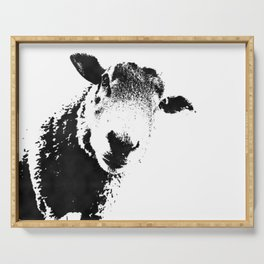sheep black&white Serving Tray