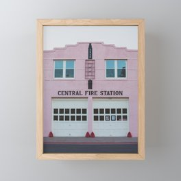 Central Fire Station - Marfa Framed Mini Art Print