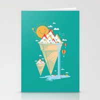 island Stationery Cards featuring mystery island by Steven Toang