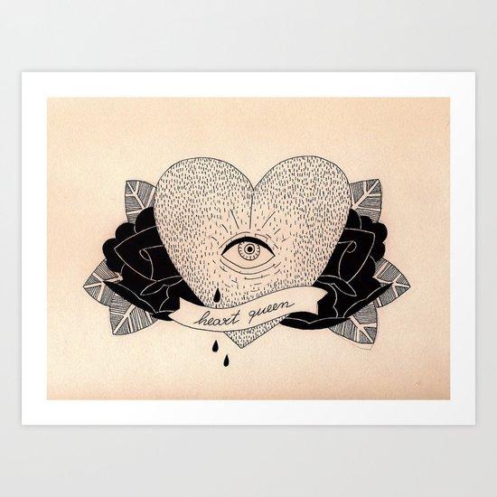Heart Queen Art Print