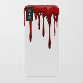 Blood Dripping White iPhone Case
