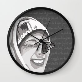Happiness in Grayscale Wall Clock