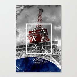 We were staying in Paris... Canvas Print