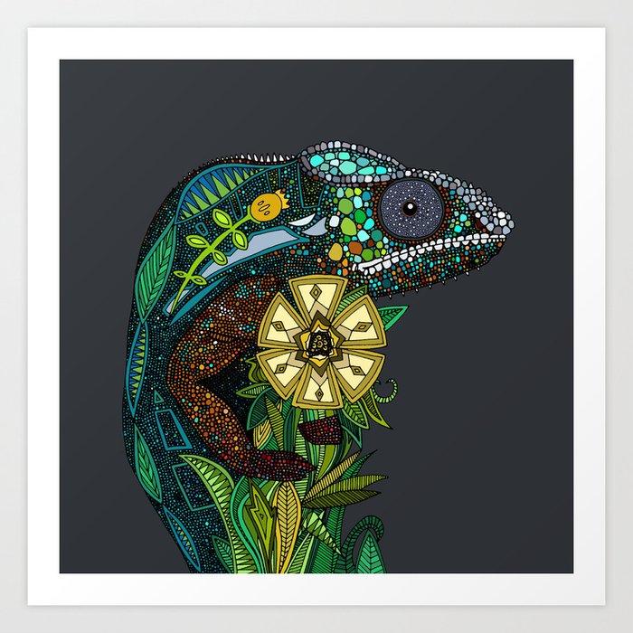 chameleon pewter Kunstdrucke