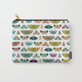 Vintage Moths Collection // Butterfly Art Carry-All Pouch