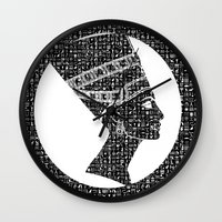 queen Wall Clocks featuring Queen by Panda Cool
