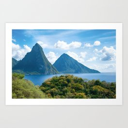 The Pitons, St. Lucia Art Print