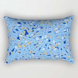 Bedtime Stories BLUE / Cartoon pencil pattern Rectangular Pillow