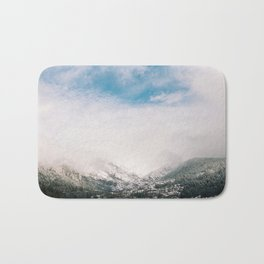Peaceful Winter Day at Pinecrest Lake Bath Mat