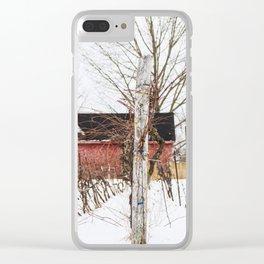 Hibernating Vineyard Clear iPhone Case