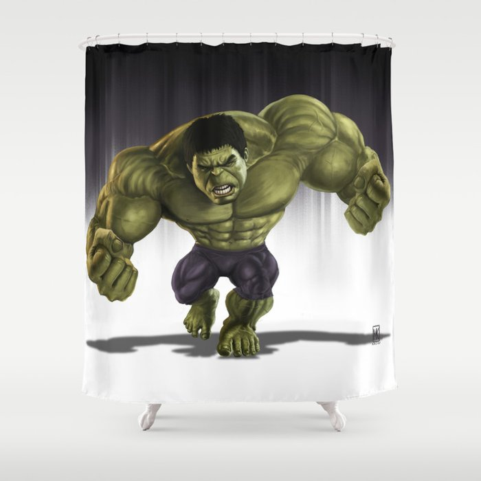 Caricature Of Hulk V2 Shower Curtain