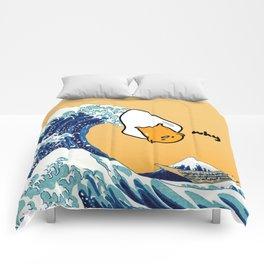 gudetama's great wave Comforters