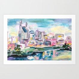 Nashville Living Art Print