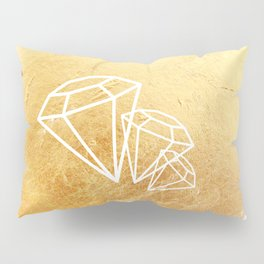 Faceted Gold Pillow Sham