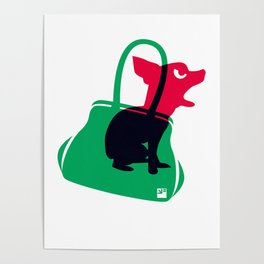 Angry animals: chihuahua - little green bag Poster
