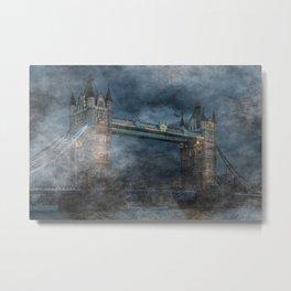 Ghostly Fog At Tower Bridge Metal Print