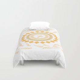 Leaf Mandala Duvet Cover