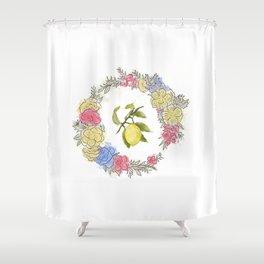 Original Lemon Watercolor Painting, Fruit watercolor;  vita Shower Curtain