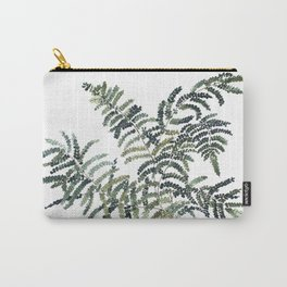 Woodland Fern Botanical Watercolor Illustration Painting Carry-All Pouch