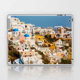Colorful Seaside Santorini Island Homes Laptop & iPad Skin