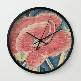 Flower Tapestry Wall Clock