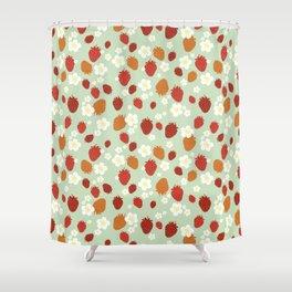 Strawberry Blossom Shower Curtain