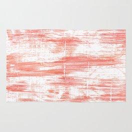 Light salmon pink abstract watercolor Rug