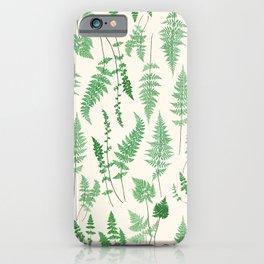 Ferns on Cream I - Botanical Print iPhone Case