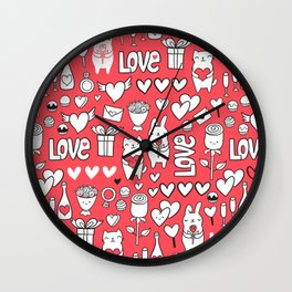 Happy Valentines Wall Clock