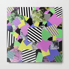 Crazy Squares - Abstract, Geometric Pop Art Metal Print