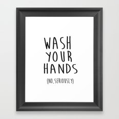 Wash Your Hands Bathroom Print Bathroom Decor Nursery Print Nursery Quote So Fresh And So Clean Framed Art Print