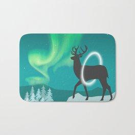 Magic Deer of the North Selas Aurora Borealis Bath Mat