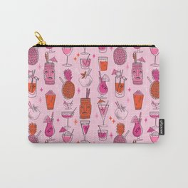Tropical cocktails summer drinks pineapple tiki bar pattern by andrea lauren Carry-All Pouch
