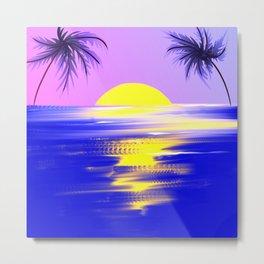 Tropical sunset design Metal Print
