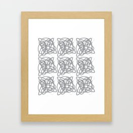Curvy1Print Grey and White Framed Art Print