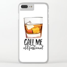 Alcohol Gift,Old Fashioned,Fashionista Party Decoration,Man cave,Gift For Husband,Call Me Old Clear iPhone Case