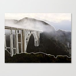 Line Series - Bixby Bridge, Big Sur, Califonria Canvas Print