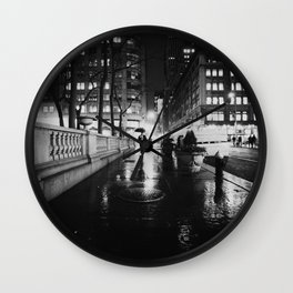 New York City Noir Wall Clock