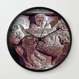 Romanesque lovers VII Wall Clock