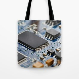 Electronic circuit board with processor Tote Bag